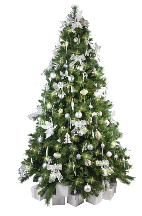 Christmas Tree With White Decorations