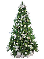 Christmas Tree with White & Silver Decorations