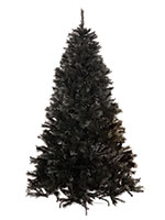 Black Christmas Tree with Decorations