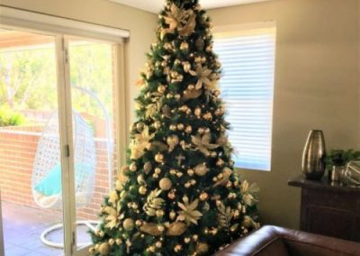 Green Tree with Gold Decs
