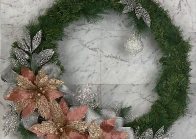 wreath-christmas-tree-hire-pink-silver-deluxe